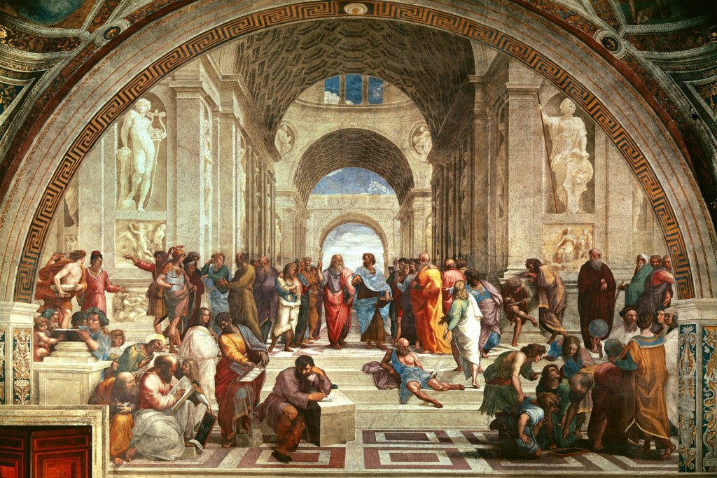 My actual graduation photo. I'm right beside Plato, I promise.