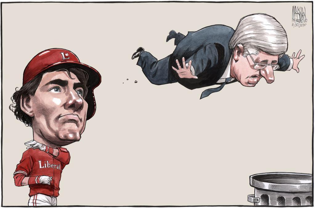 Trudeau Harper Out